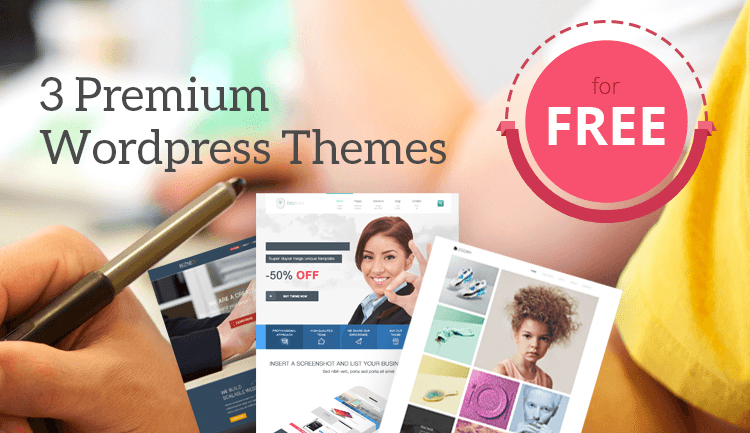 3 Premium WordPress Themes worth $117 for free by TeslaThemes