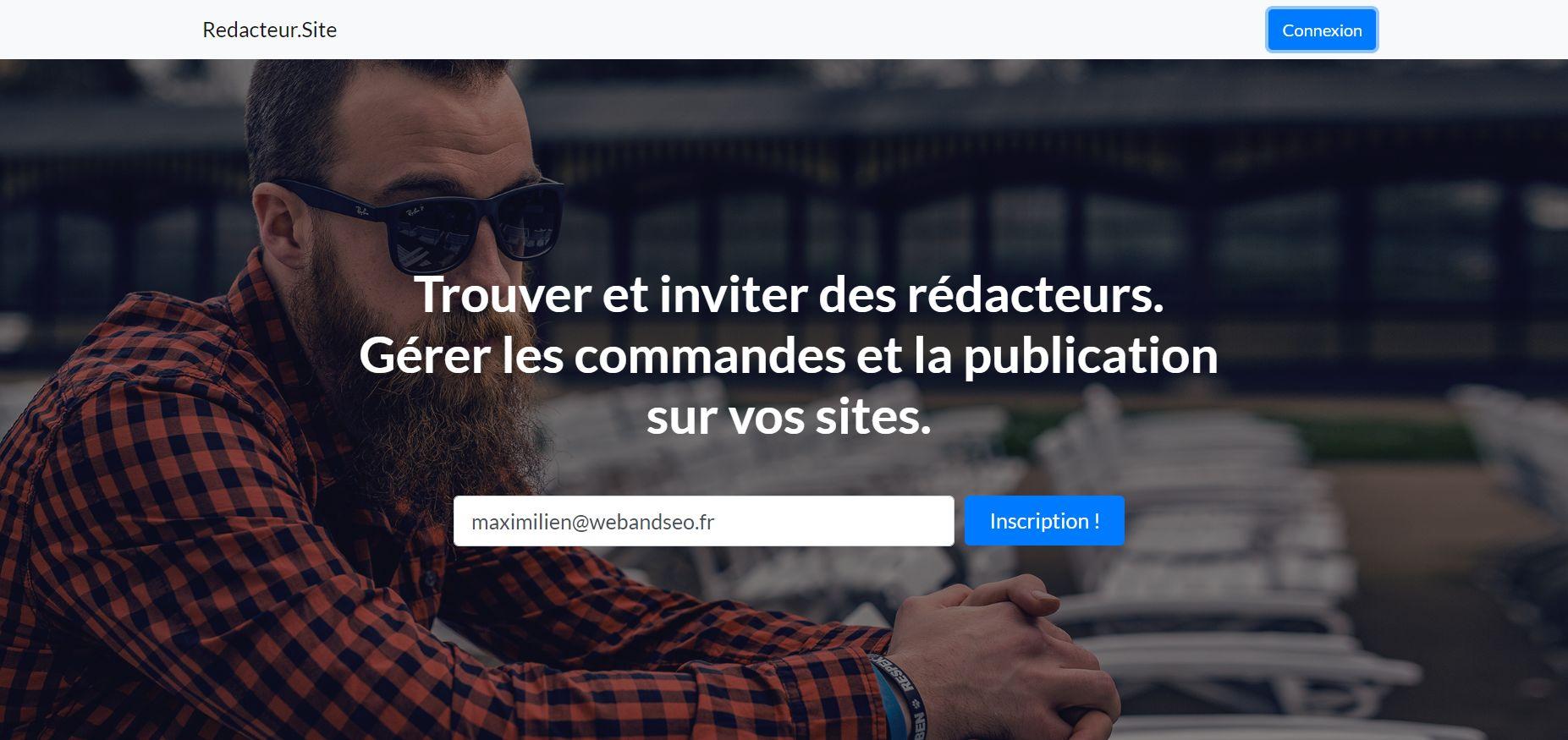 Redacteur.site - Plateforme de rédaction web